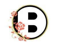 Логотип вектора вензеля роз b флористический бесплатная иллюстрация