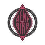Логотип вектора велосипеда арендный иллюстрация штока