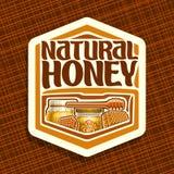 Логотип вектора для естественного меда Стоковые Изображения RF
