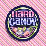 Логотип вектора для трудной конфеты Стоковое Изображение RF