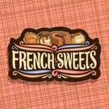 Логотип вектора для французских помадок Стоковая Фотография