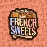 Логотип вектора для французских помадок Стоковое Фото