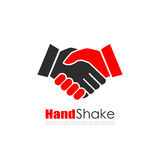 Логотип вектора дела встряхивания руки иллюстрация вектора