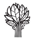 Логотип вектора завода/дерева иллюстрация вектора