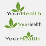 Логотип вектора значка здоровья Стоковые Изображения RF