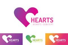 Логотип вектора значка сердец совместно бесплатная иллюстрация