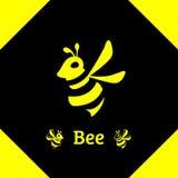 Логотип вектора значка силуэта пчелы животный стоковое фото rf