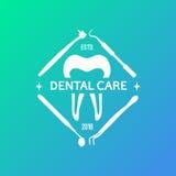 Логотип вектора зубоврачебный Стоковые Изображения RF