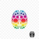 Логотип вектора идеи разума логики мозга умный иллюстрация вектора