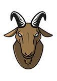 Логотип вектора козы головной Стоковое фото RF