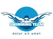Логотип вектора команды заплывания Стоковое Изображение