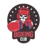Логотип вектора клуба бокса, символ, эмблема, ярлык бесплатная иллюстрация