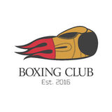 Логотип вектора клуба бокса, эмблема, ярлык, дизайн иллюстрация вектора