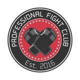 Логотип вектора клуба бокса иллюстрация вектора