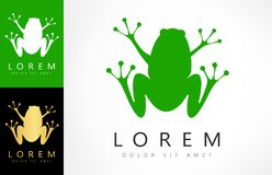 Логотип вектора лягушки иллюстрация штока