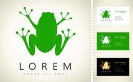 Логотип вектора лягушки бесплатная иллюстрация