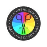 Логотип вектора маникюра иллюстрация штока