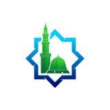 Логотип вектора мечети Madinah Стоковое Изображение RF