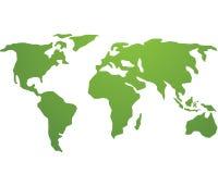 Логотип вектора мира глобальный зеленый бесплатная иллюстрация