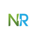 Логотип вектора начальные NR 2 электрический Стоковое Изображение RF
