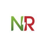 Логотип 3 вектора начальный NR электрический Стоковая Фотография