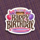 Логотип вектора на праздник дня рождения Стоковая Фотография RF