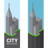 Логотип вектора недвижимости равновеликий center one wachovia Стоковая Фотография RF