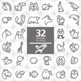 Логотип вектора плоско простой minimalistic животный Стоковые Изображения