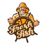 Логотип вектора рыболова fisher, рыболов, удя значок иллюстрация штока