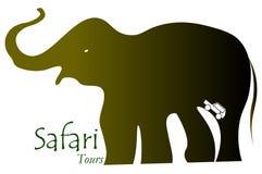 Логотип вектора сафари приключения дикий иллюстрация штока