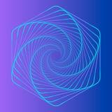 Логотип вектора спиральный Стоковые Фотографии RF