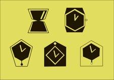 Логотип вектора часов Стоковые Фотографии RF