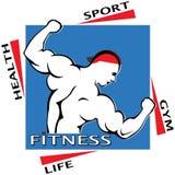 Логотип вектора человека спортзала Стоковая Фотография