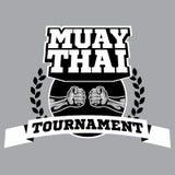 Логотип вектора Muay тайский для кладя в коробку спортзала или другого Стоковое Изображение RF