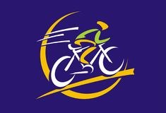 Логотип велосипеда Стоковые Фотографии RF