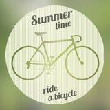 Логотип велосипеда зеленый Стоковая Фотография