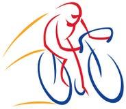 Логотип велосипедиста Стоковое Изображение