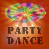 Логотип, визитная карточка, листовка Ночной клуб Lignts Tkhe диско vith вектор illyustration Стоковые Изображения RF