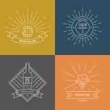 Логотип вина битника Стоковое Изображение