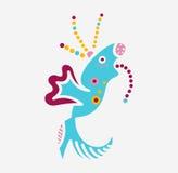 Логотип вируса бактерий сути твари изверга любит рыбы Стоковые Изображения RF