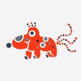 Логотип вируса бактерий сути твари изверга любит цвет собаки полный Стоковое Фото