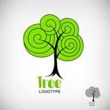 Логотип включая дерево иллюстрация штока