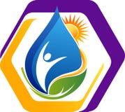 Логотип воды энергии естественный стоковое фото rf