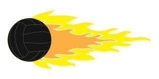 Логотип волейбола летания Стоковые Фото