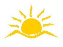 Логотип восходящего солнца Стоковое Изображение RF