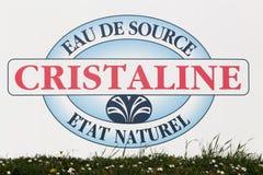 Логотип воды Cristaline на стене Стоковое Изображение RF