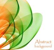 Логотип в форме абстрактного зеленого и оранжевого цветка иллюстрация вектора