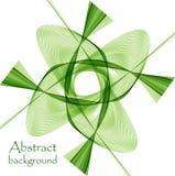 Логотип в форме абстрактного зеленого цветка иллюстрация вектора