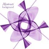 Логотип в форме абстрактного фиолетового цветка иллюстрация штока