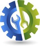 Логотип гаечного ключа колеса Стоковая Фотография